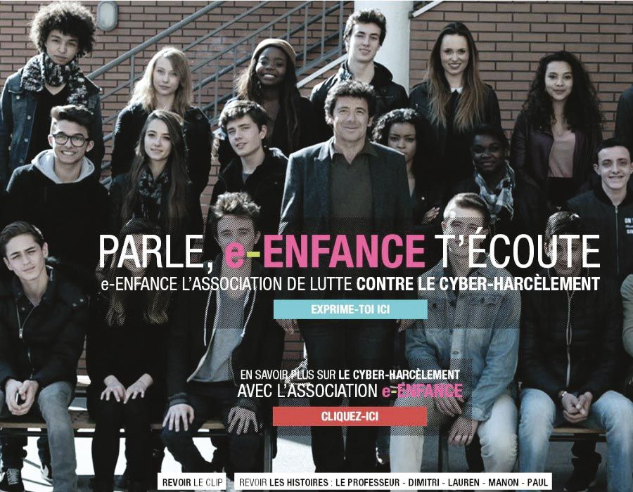 <stamp theme='his-green2'>Doc. 3</stamp> Affiche contre le cyberharcèlement e-enfance