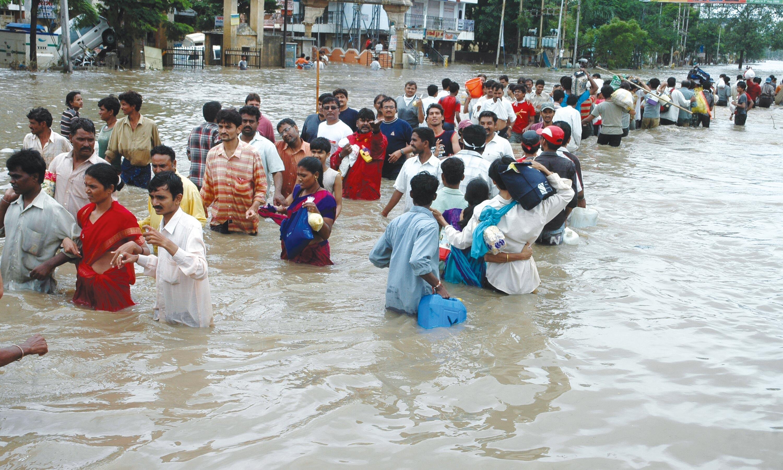 Inondation à la ville de Surat