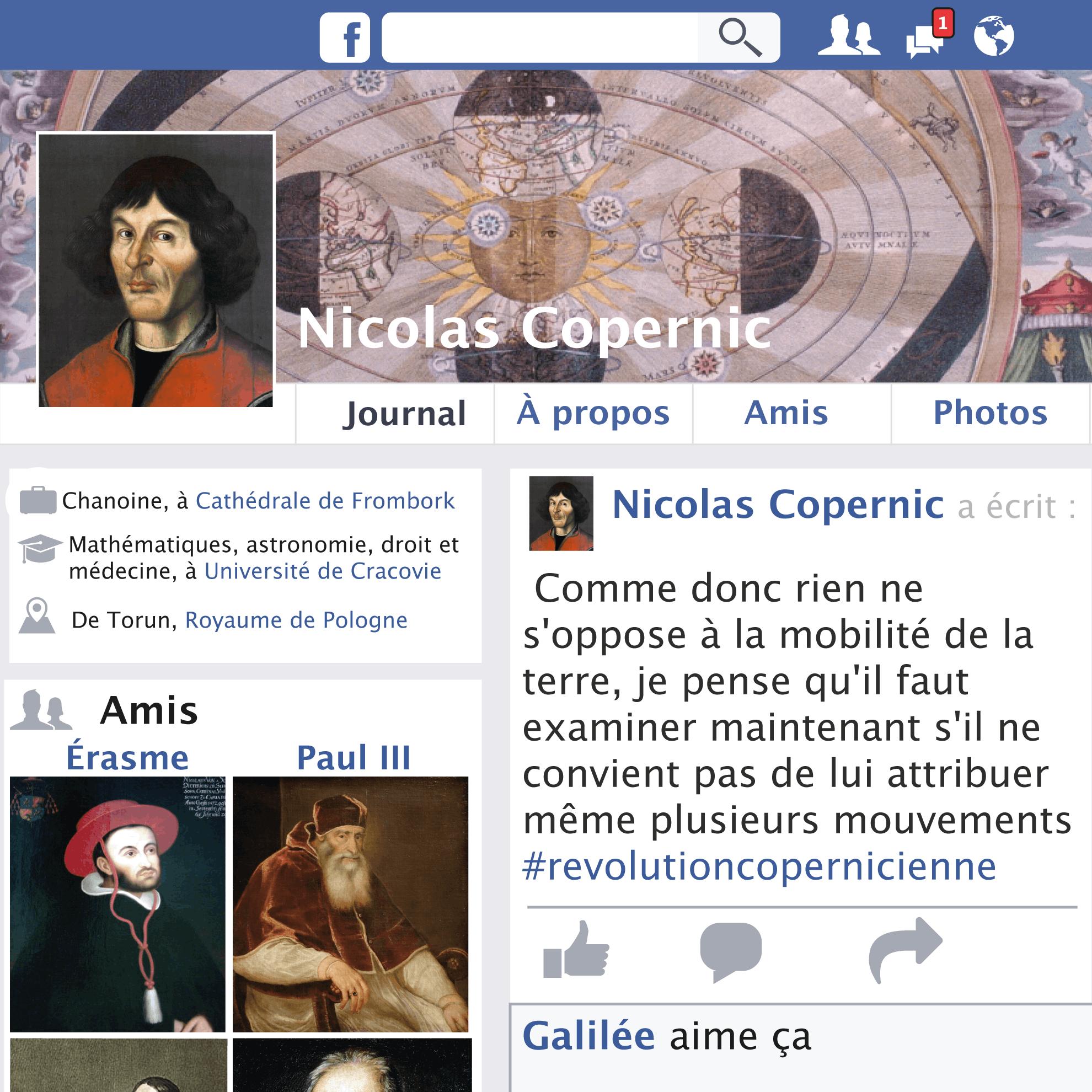 Fakebook de Nicolas Copernic