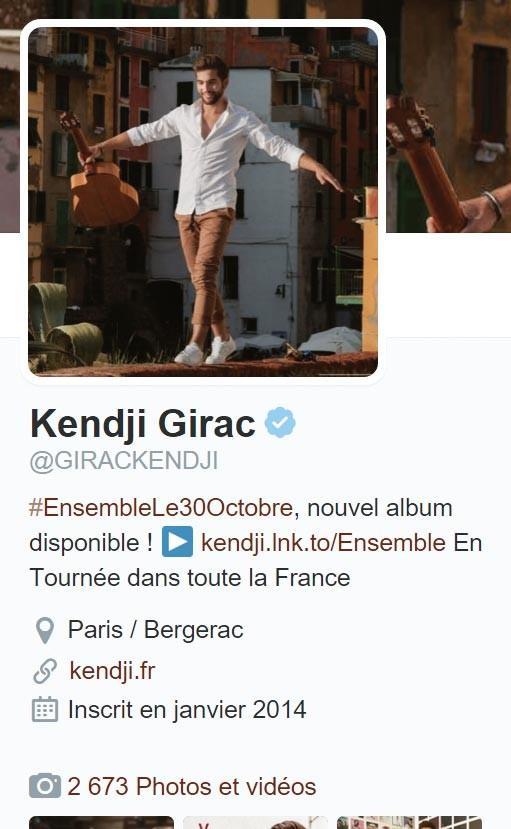 <stamp theme='his-green2'>Doc. 1</stamp> Profil twitter Kendji Girac