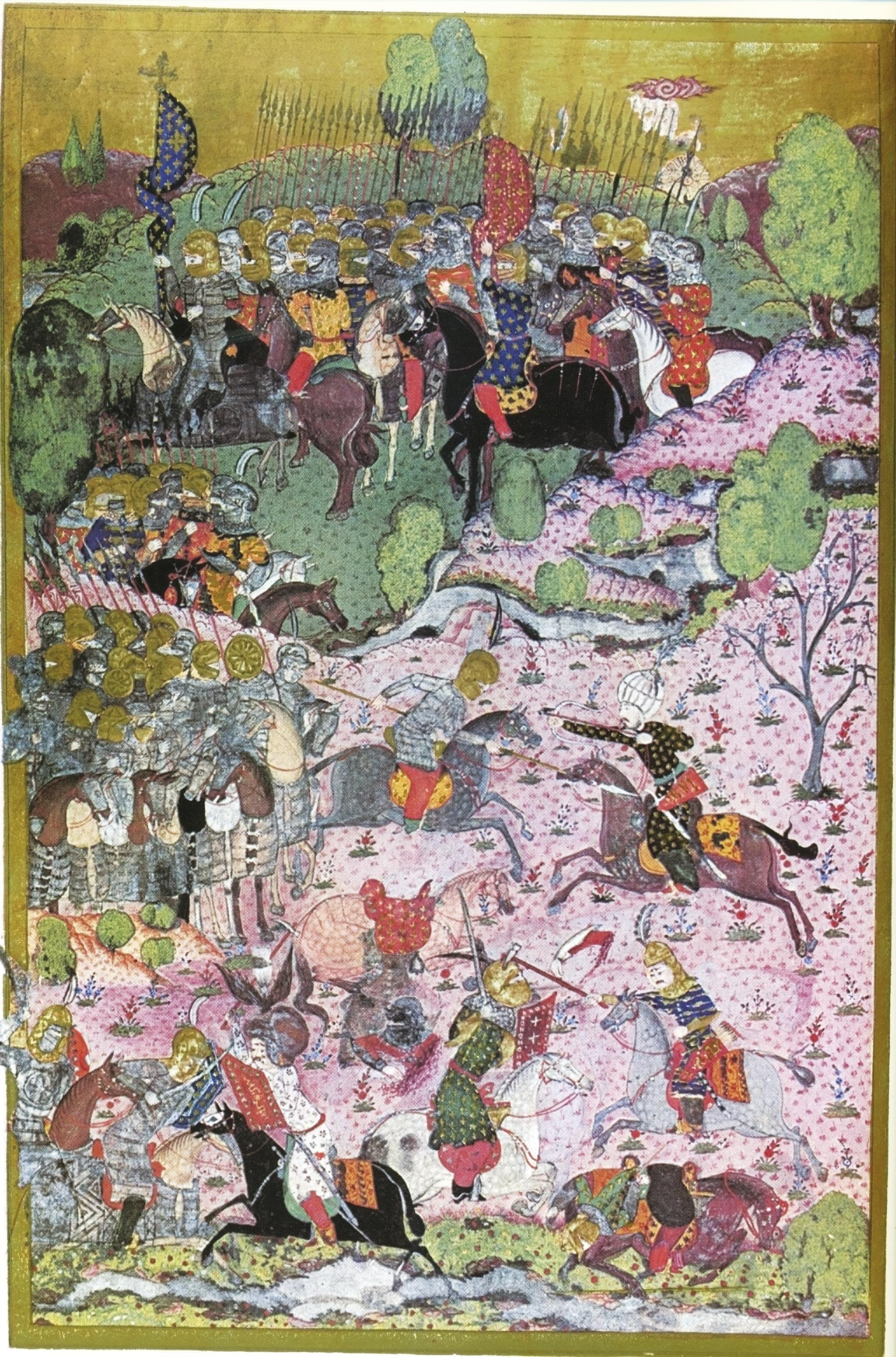 <stamp theme='his-green2'>Doc. 2</stamp> La cavalerie chrétienne face aux soldats ottomans