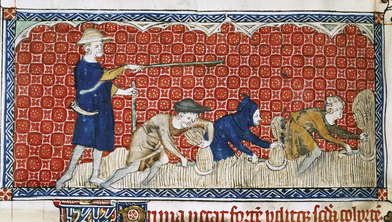 <stamp theme='his-green2'>Doc. 5</stamp> L'intendant du seigneur surveille la corvée