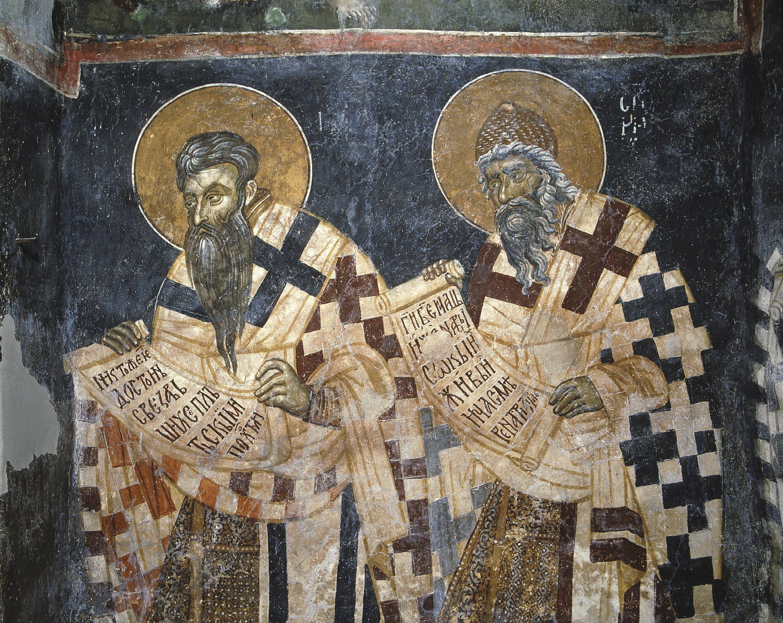 Les moines byzantins  Cyrille et Méthode traduisent  la Bible