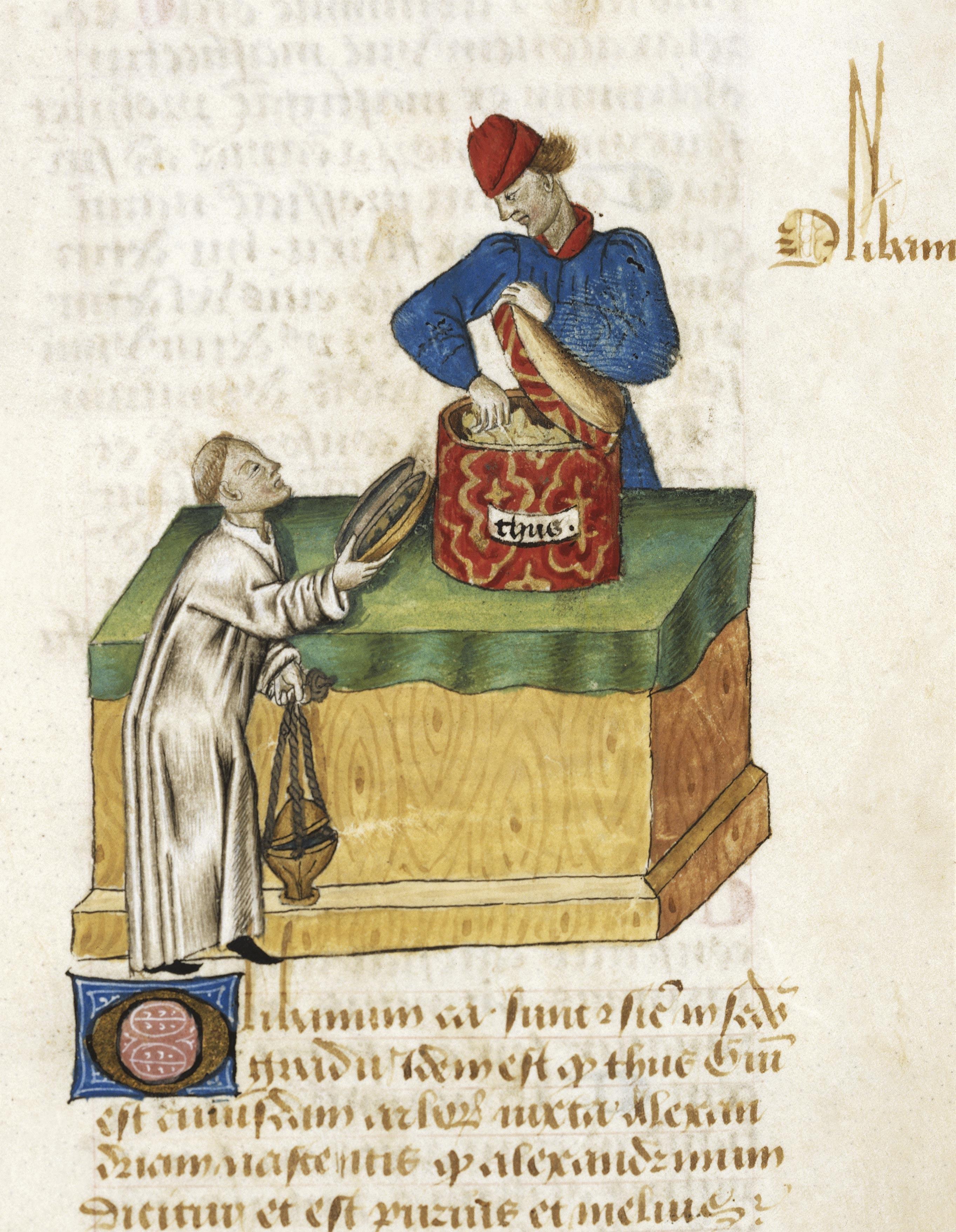 <stamp theme='his-green2'>Doc. 3</stamp> Un moine achetant du thym
