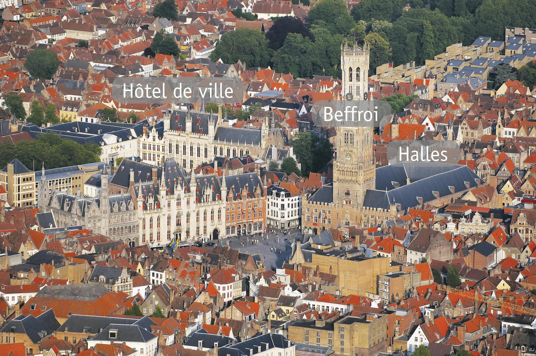 <stamp theme='his-green2'>Doc. 4</stamp> Plan de la ville et activités marchandes : l'expansion de Bruges