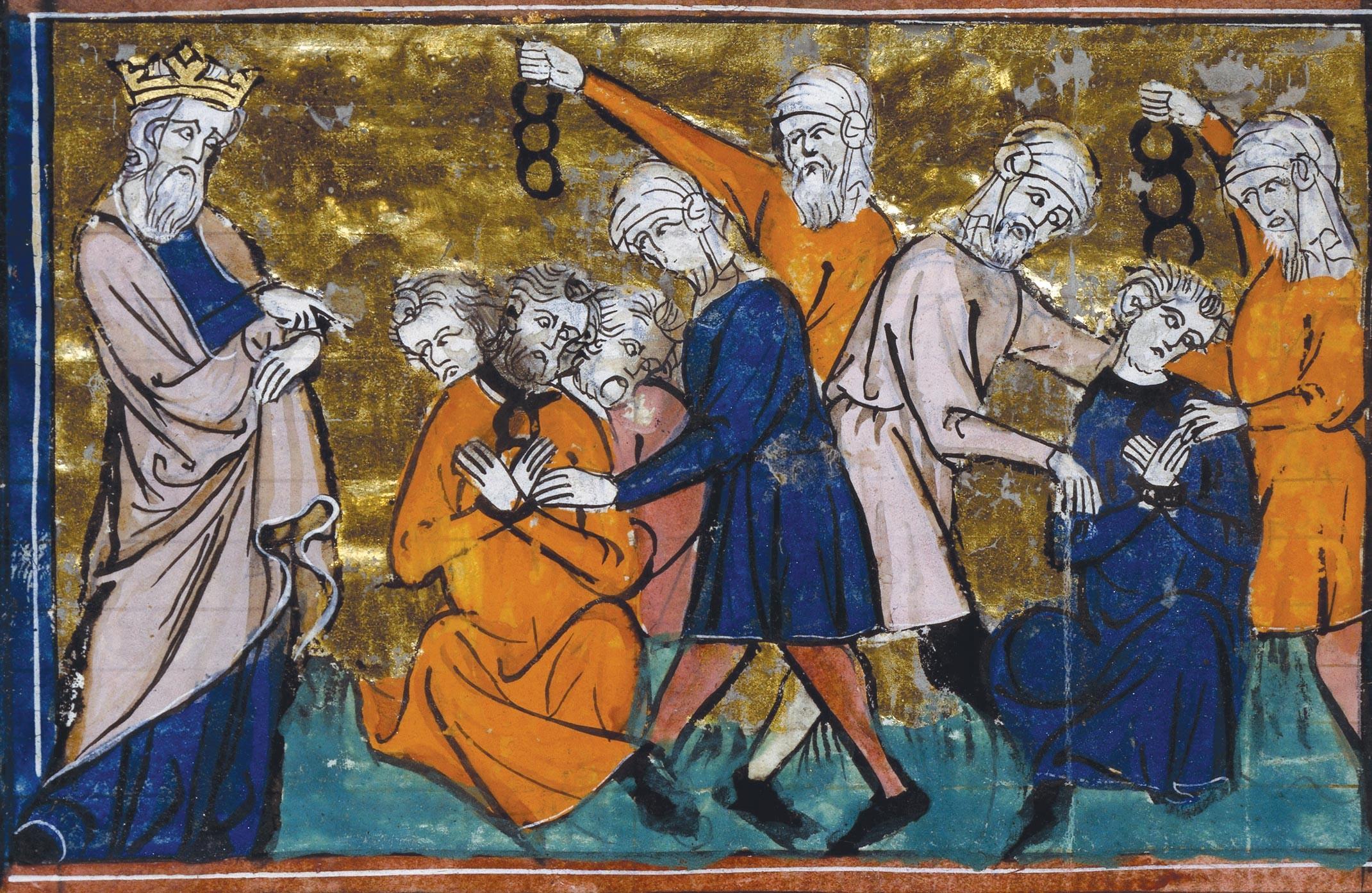 <stamp theme='his-green2'>Doc. 2</stamp> Saladin et le prisonniers chrétiens.