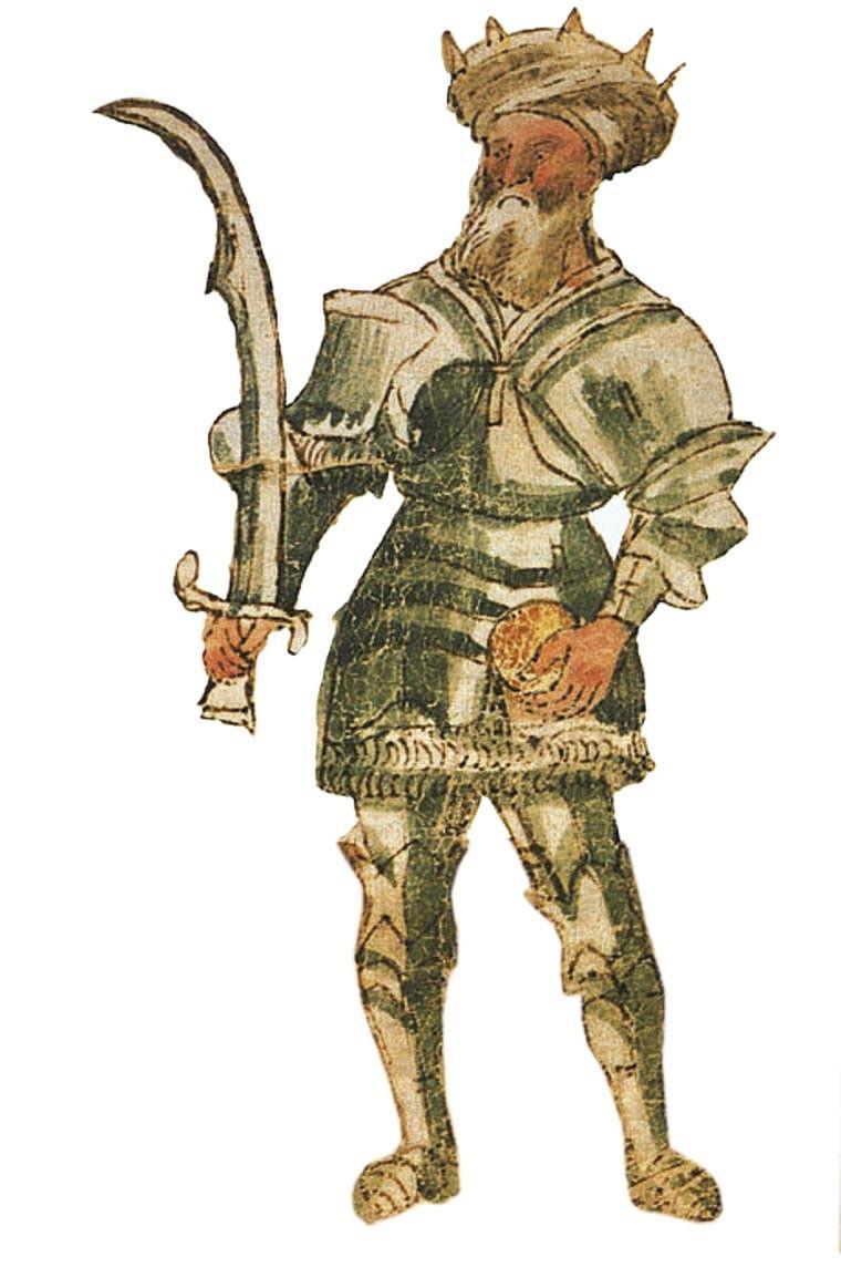 <stamp theme='his-green2'>Doc. 2</stamp> Saladin sultan d'Egypte, manuscrit, XVᵉ siècle.
