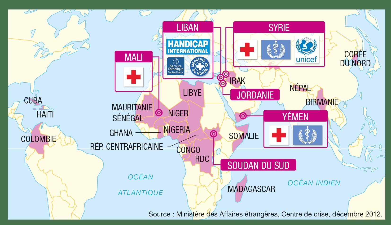 <stamp theme='his-green2'>Doc. 1</stamp> Les actions humanitaires françaises dans le monde