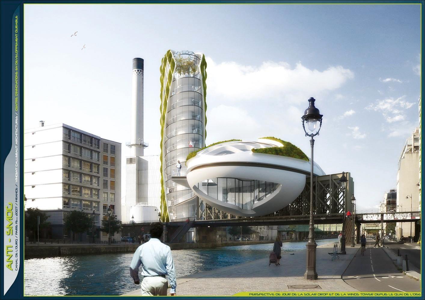 Projet d'immeuble anti-smog pour capter le CO2 et améliorer la qualité de l'air, à Paris