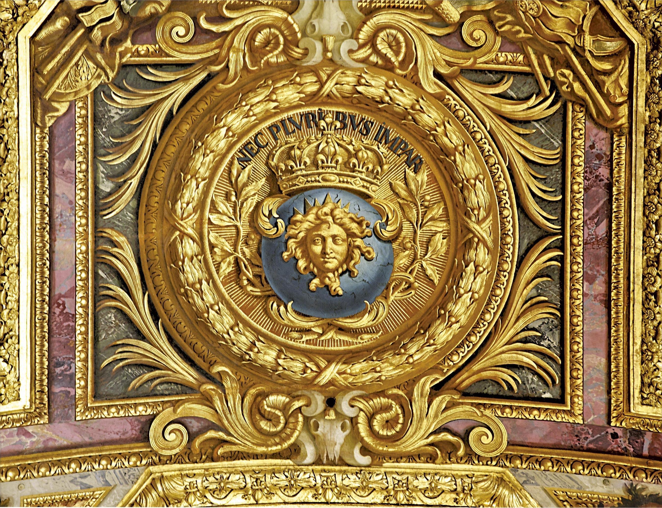 <stamp theme='his-green2'>Doc. 2</stamp> Plafond de la galerie des Glaces (Versailles)