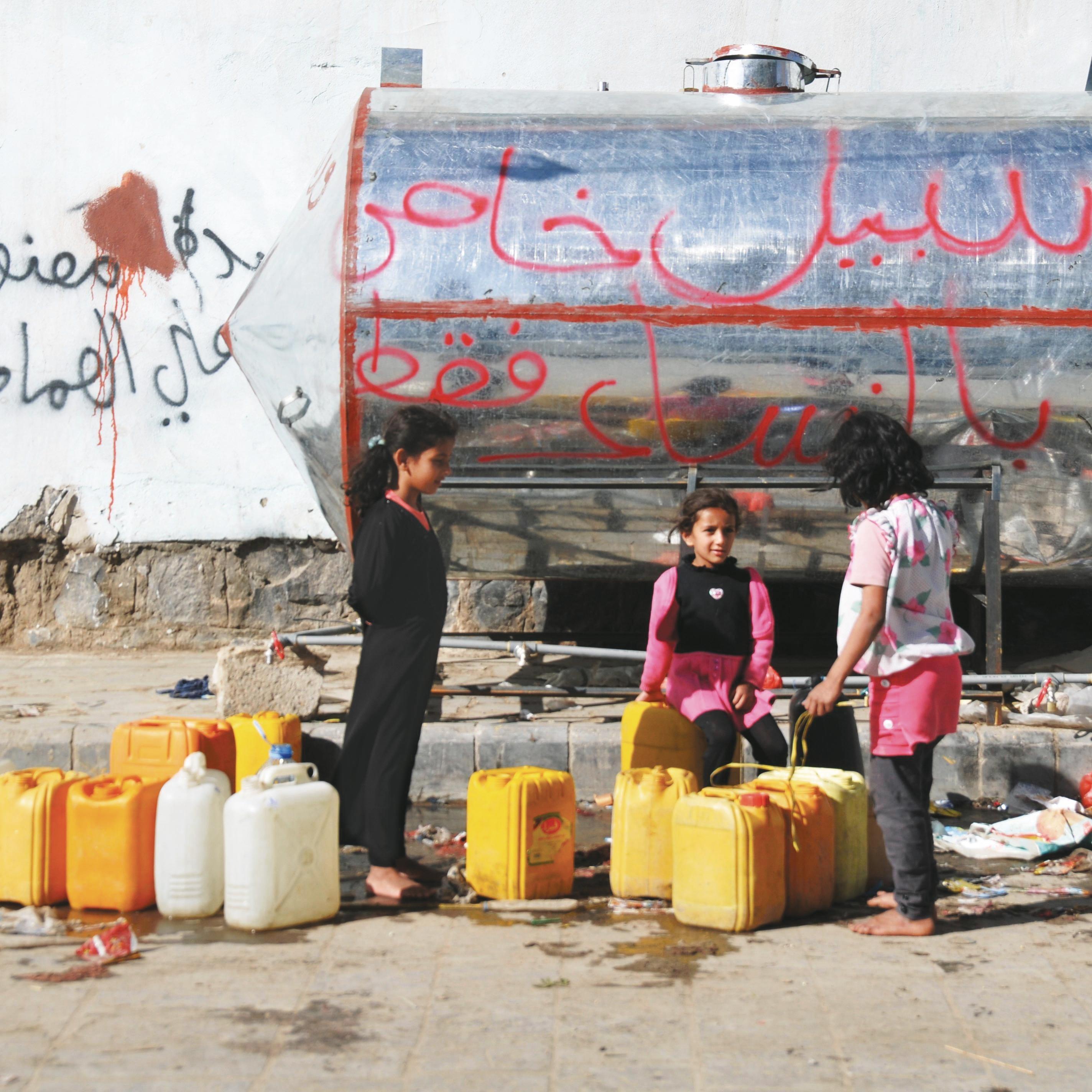 Collecte d'eau au Yémen