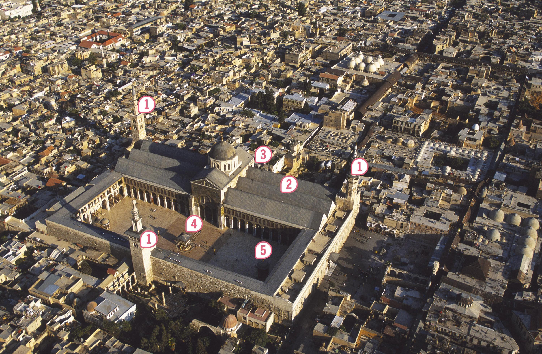 <stamp theme='his-green2'>Doc. 2</stamp> La Grande mosquée des Omeyyades de Damas