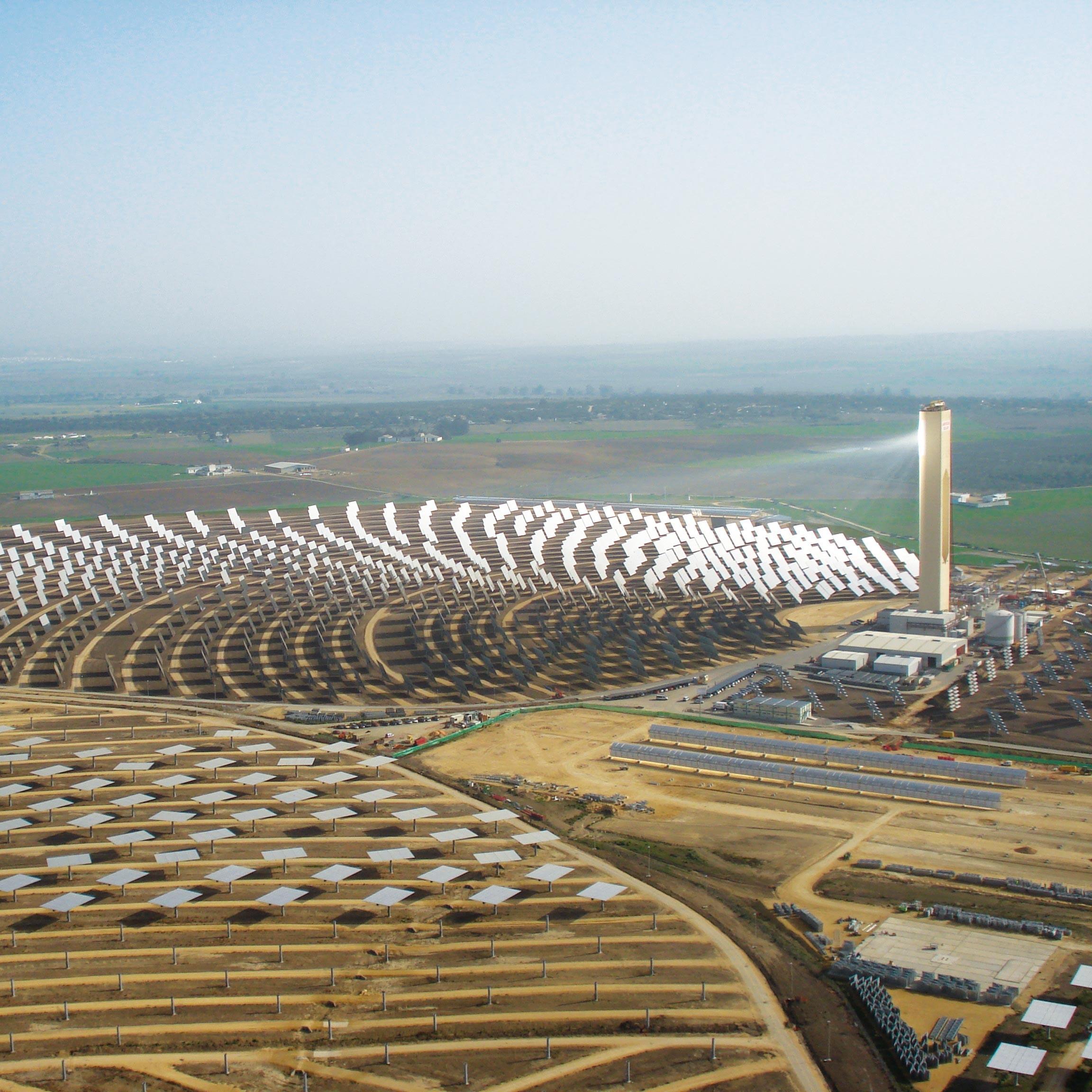 La centrale solaire thermique PS10 en Andalousie (Espagne)