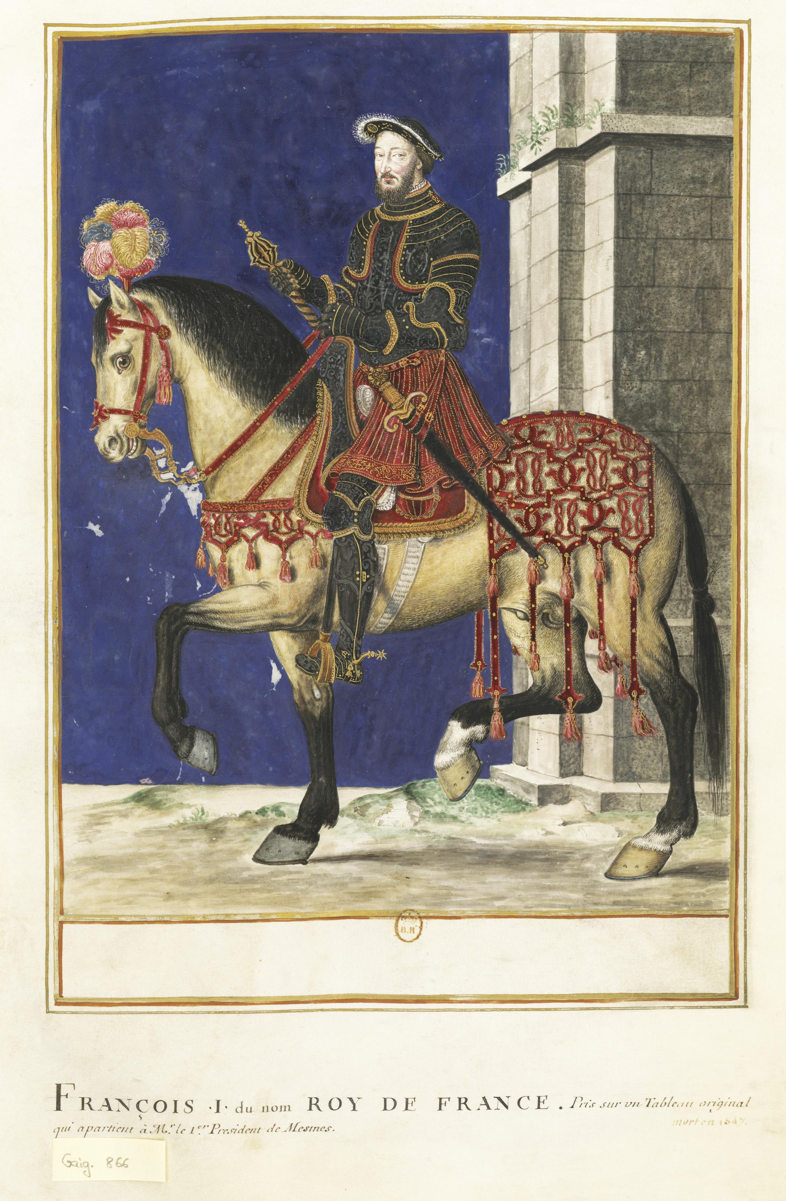 <stamp theme='his-green2'>Doc. 1</stamp> François Iᵉ en chevalier