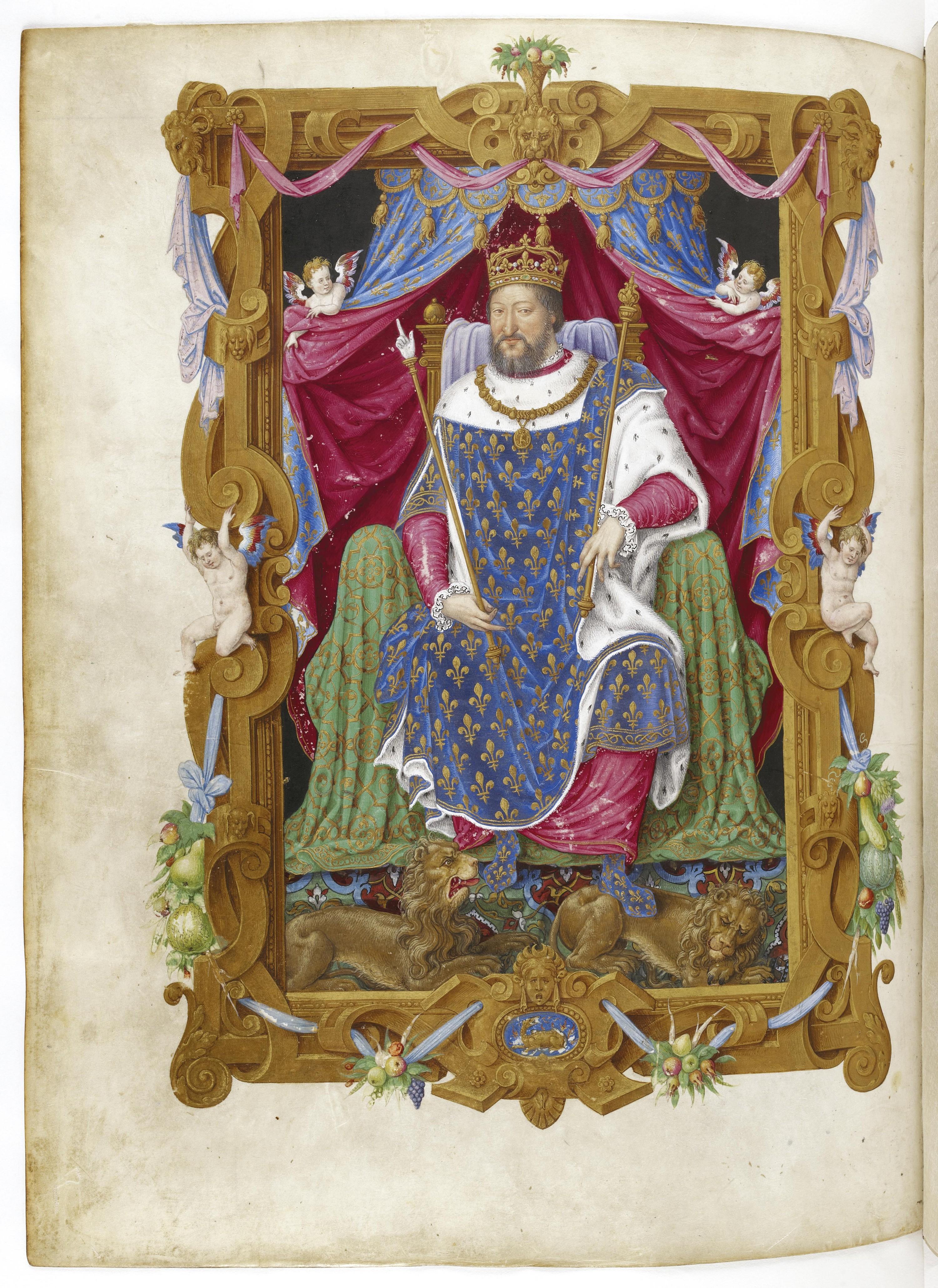 <stamp theme='his-green2'>Doc. 1</stamp> François Iᵉ sur le trône