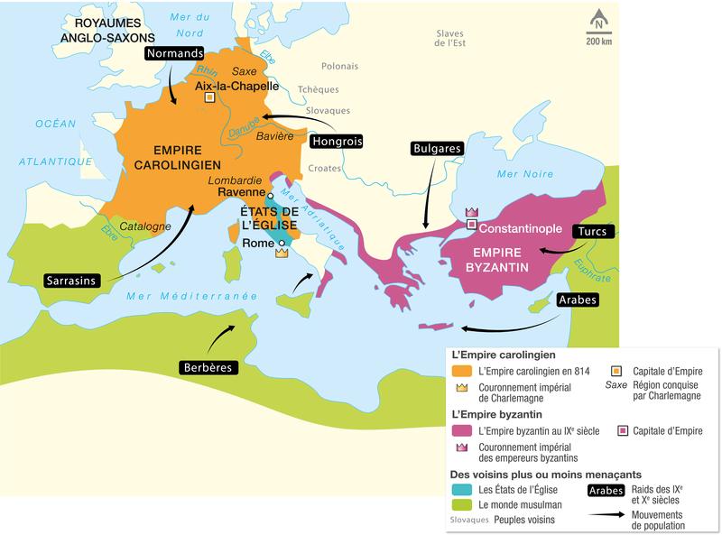 L'Empire carolingien et l'Empire byzantin au IXᵉ siècle