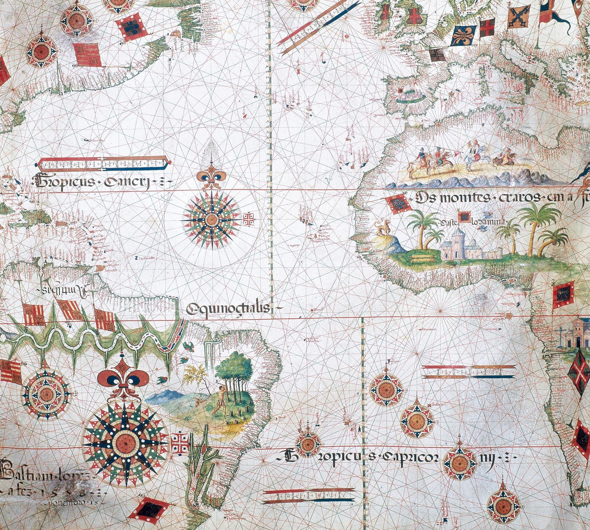 <stamp theme='his-green2'>Doc. 2</stamp> Une représentation du monde au XVIᵉ siècle