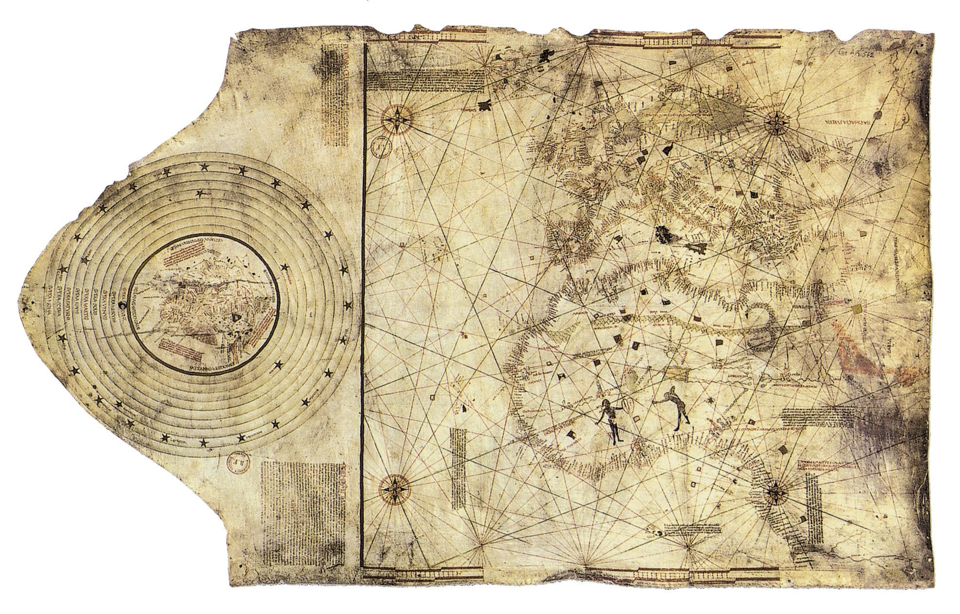 <stamp theme='his-green2'>Doc. 1</stamp> Portulan (carte de navigation), dit « de Christophe Colomb »