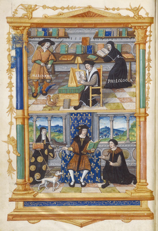 <stamp theme='his-green2'>Doc. 1</stamp> L'humaniste Guillaume Budé à l'œuvre pour son roi, François Iᵉ