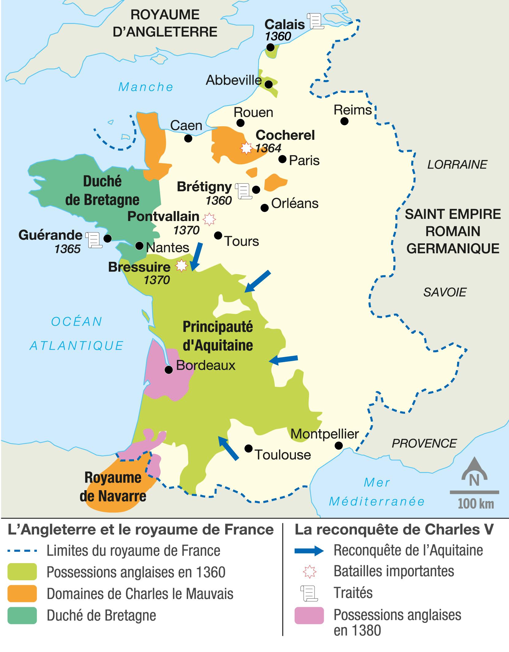<stamp theme='his-green2'>Doc. 1</stamp> La reconquête du royaume de France par Charles V
