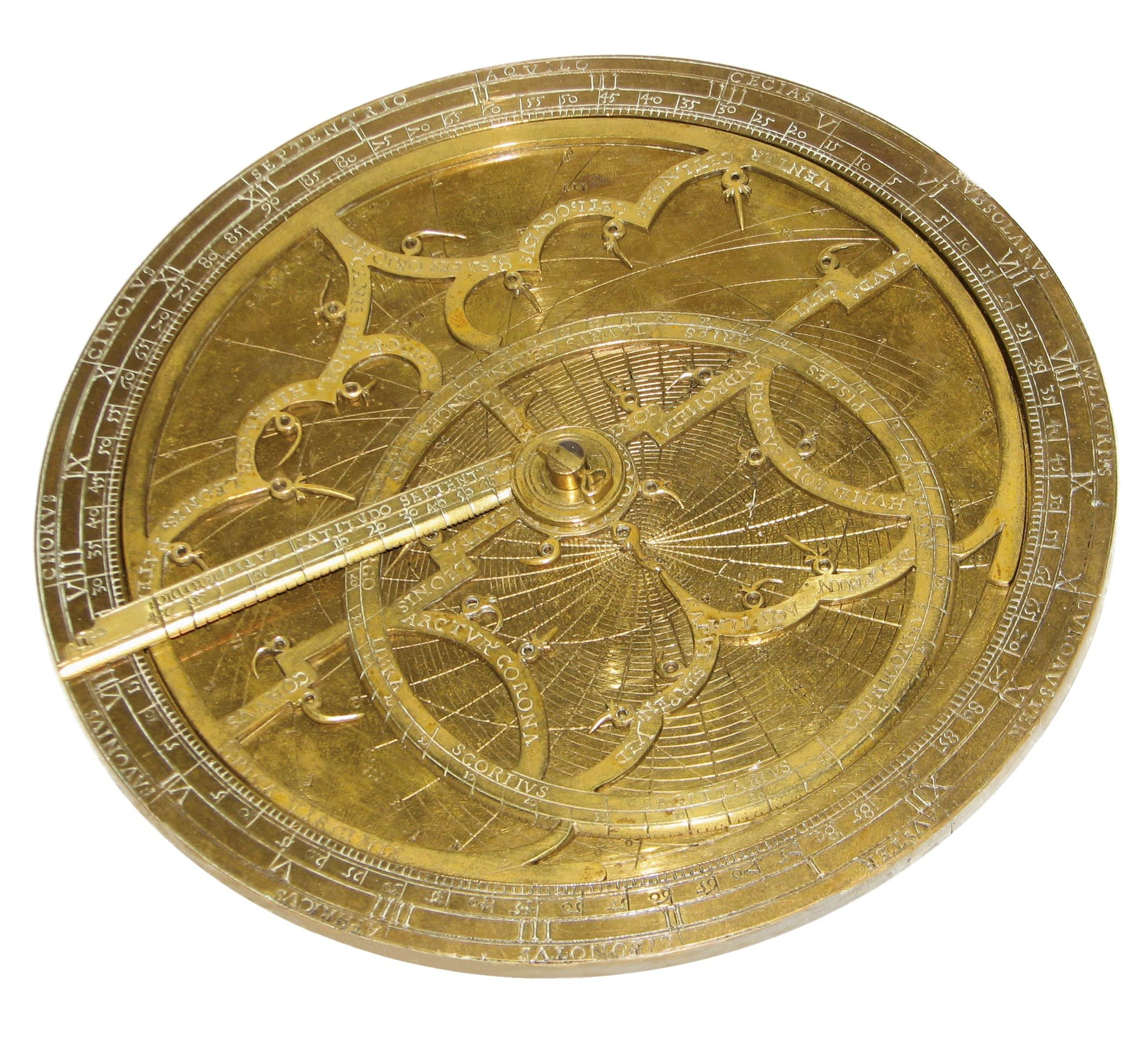 <stamp theme='his-green2'>Doc. 1</stamp> Un astrolabe