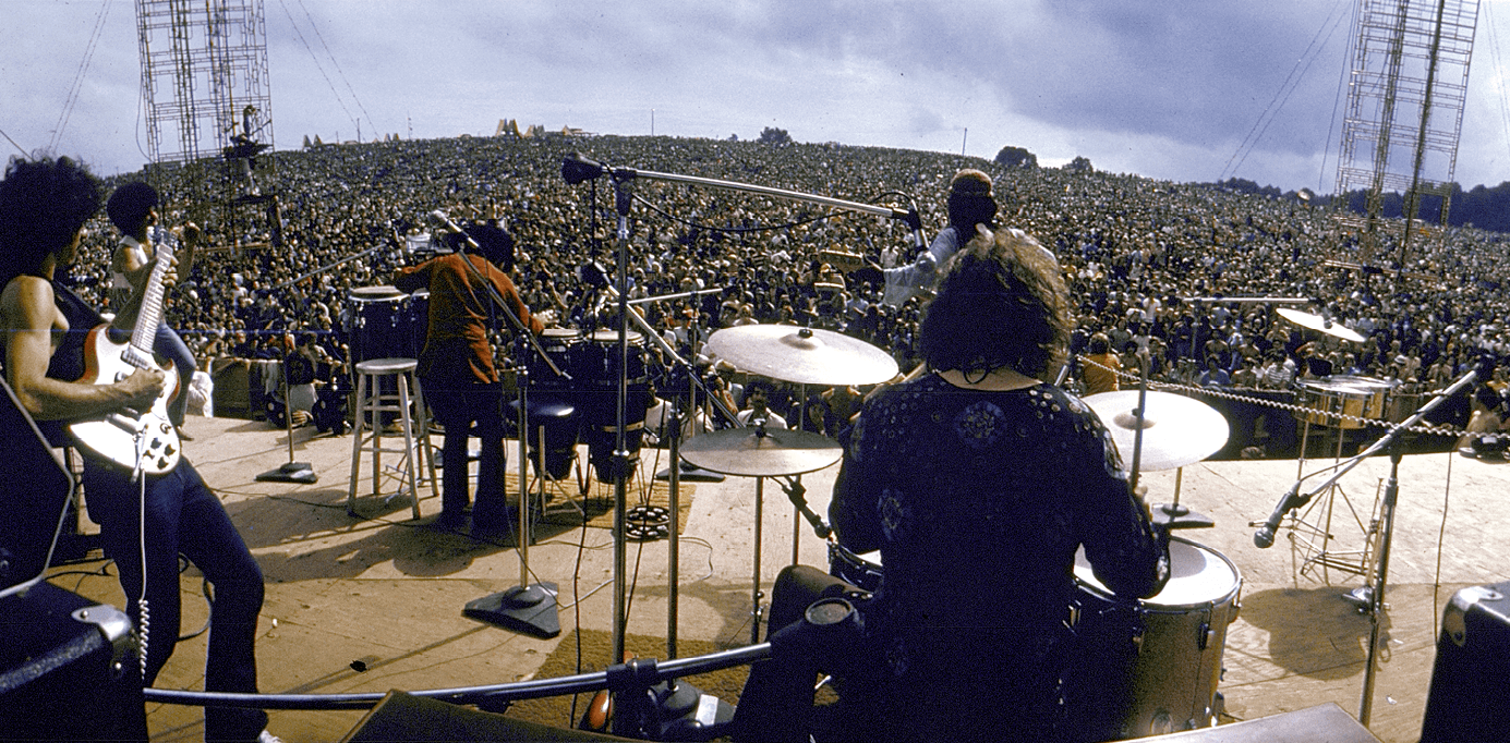 Santana Onstage At Woodstock, by Bill Eppridge, 1969.