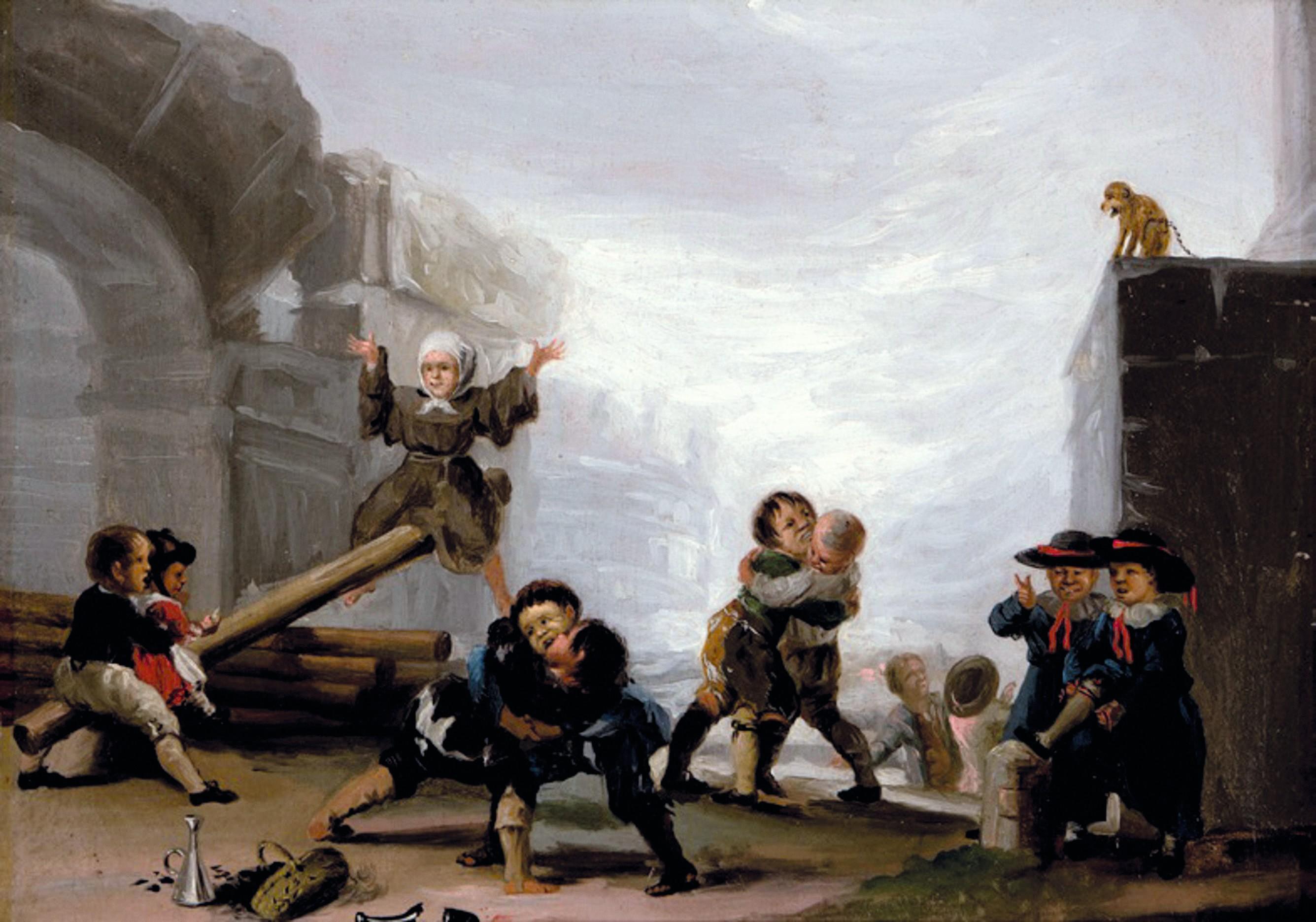 Francisco de Goya, Niños jugando al balancín, ca. 1777-1785.