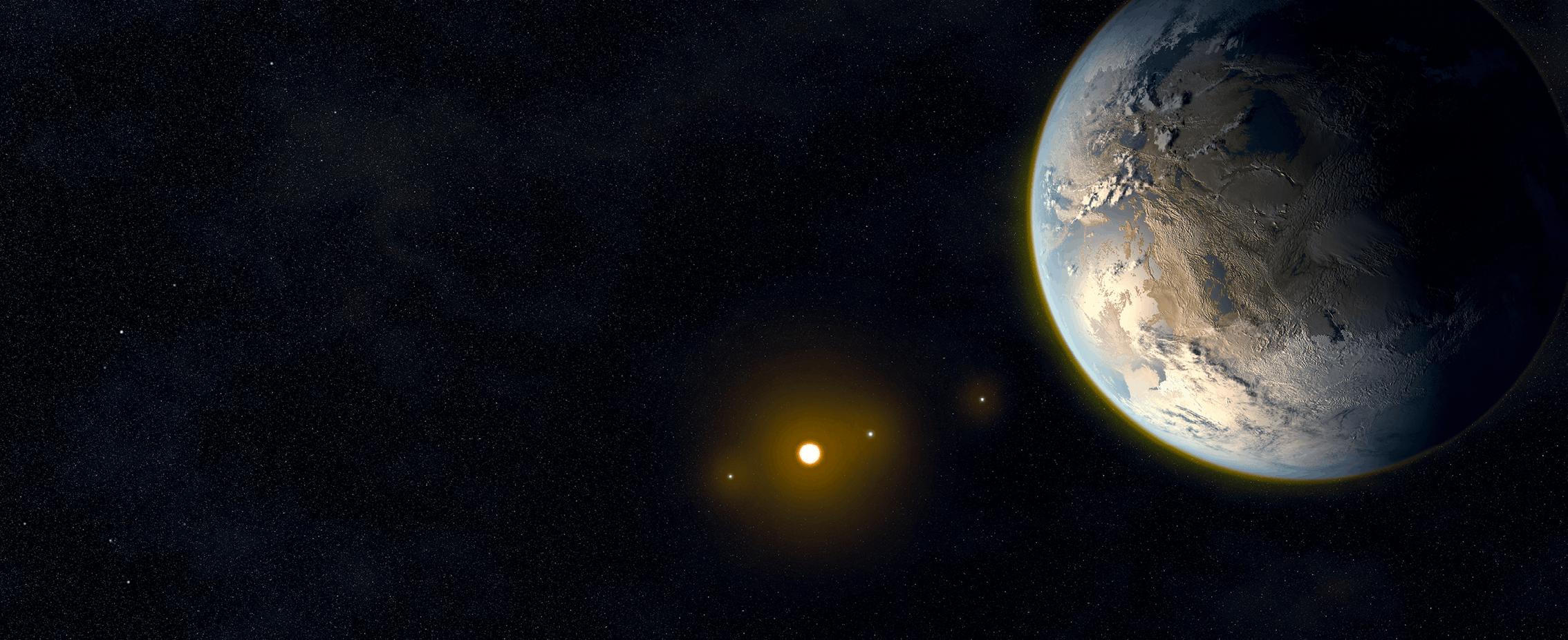 Illustration d'une exoplanète