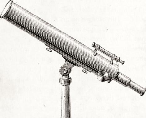 croquis d'une lunette astronomique