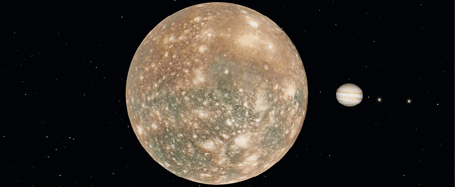Callisto, lune de Jupiter