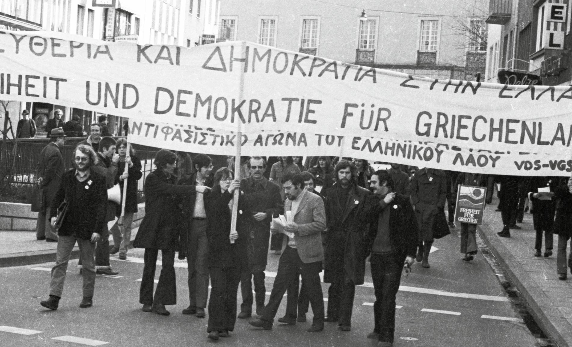 Manifestation à Bonn (Allemagne), 10 mars 1973, photographie anonyme.