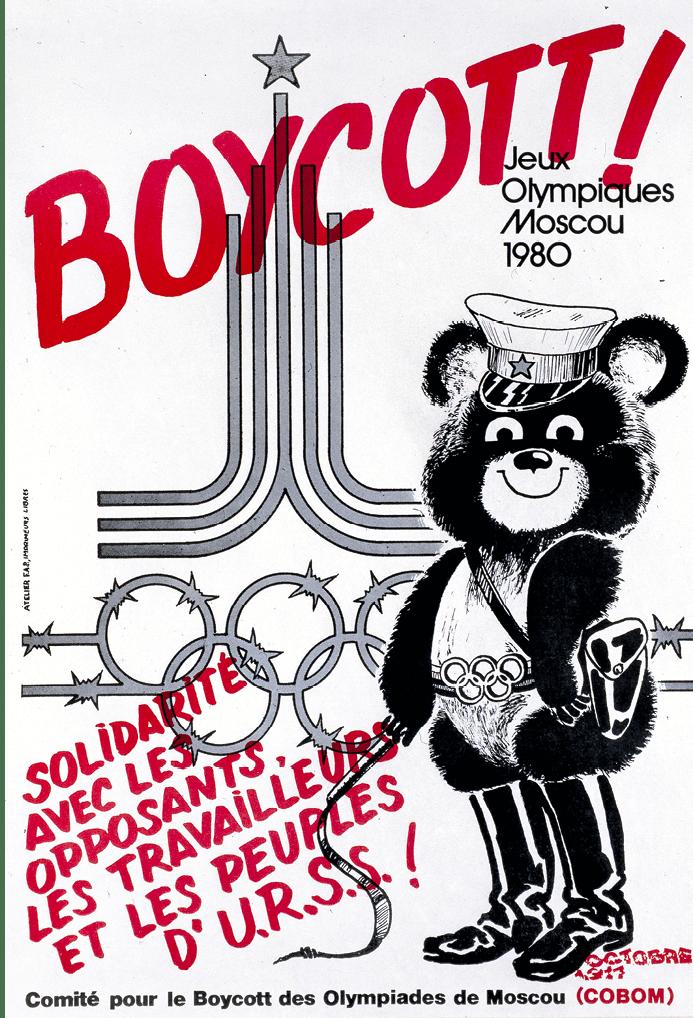 Affiche du Comité français pour le boycott international des Jeux olympiques, 1980