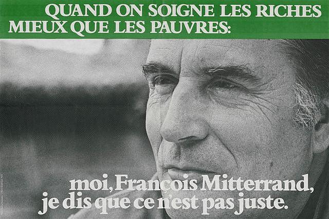 Affiche de campagne électorale de François Mitterrand, 1981.