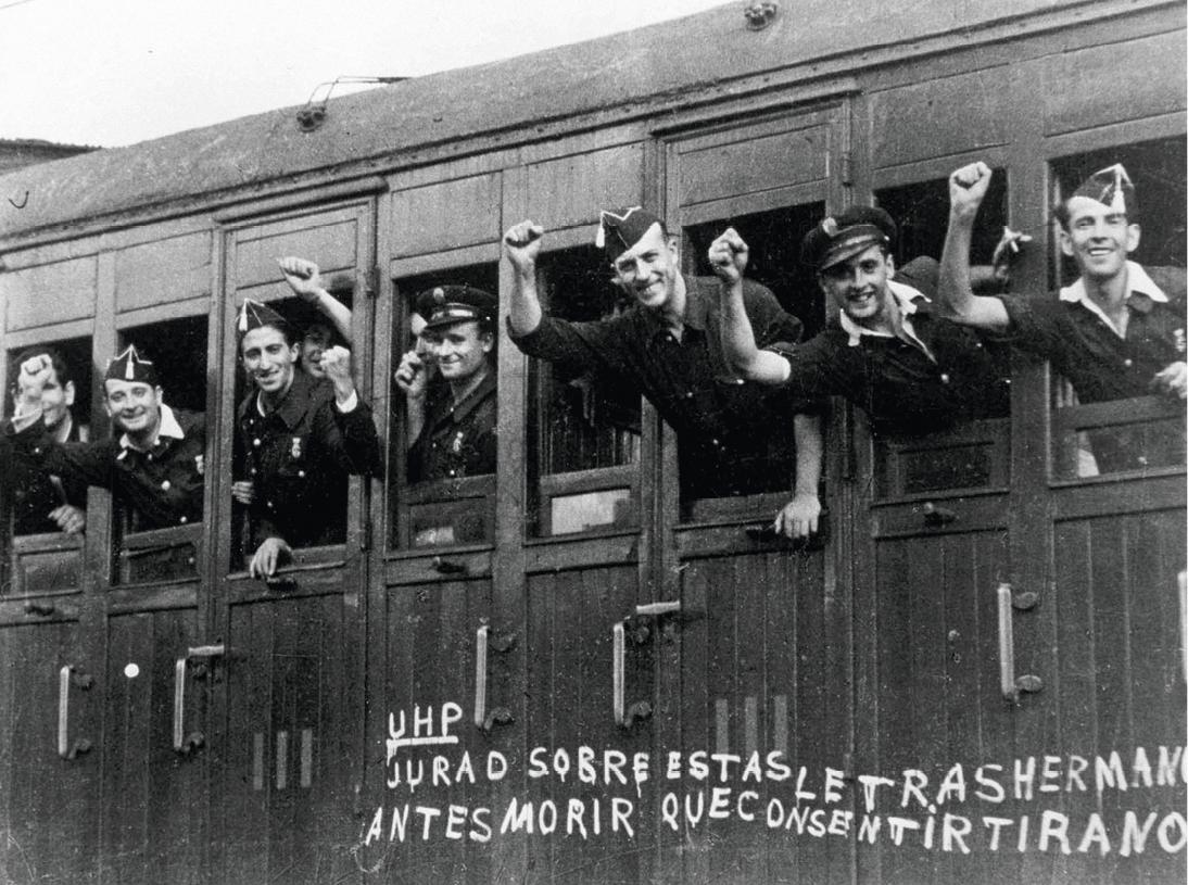 Robert Capa, Tren partiendo hacia el frente desde la Estació de França de Barcelona, verano del 36