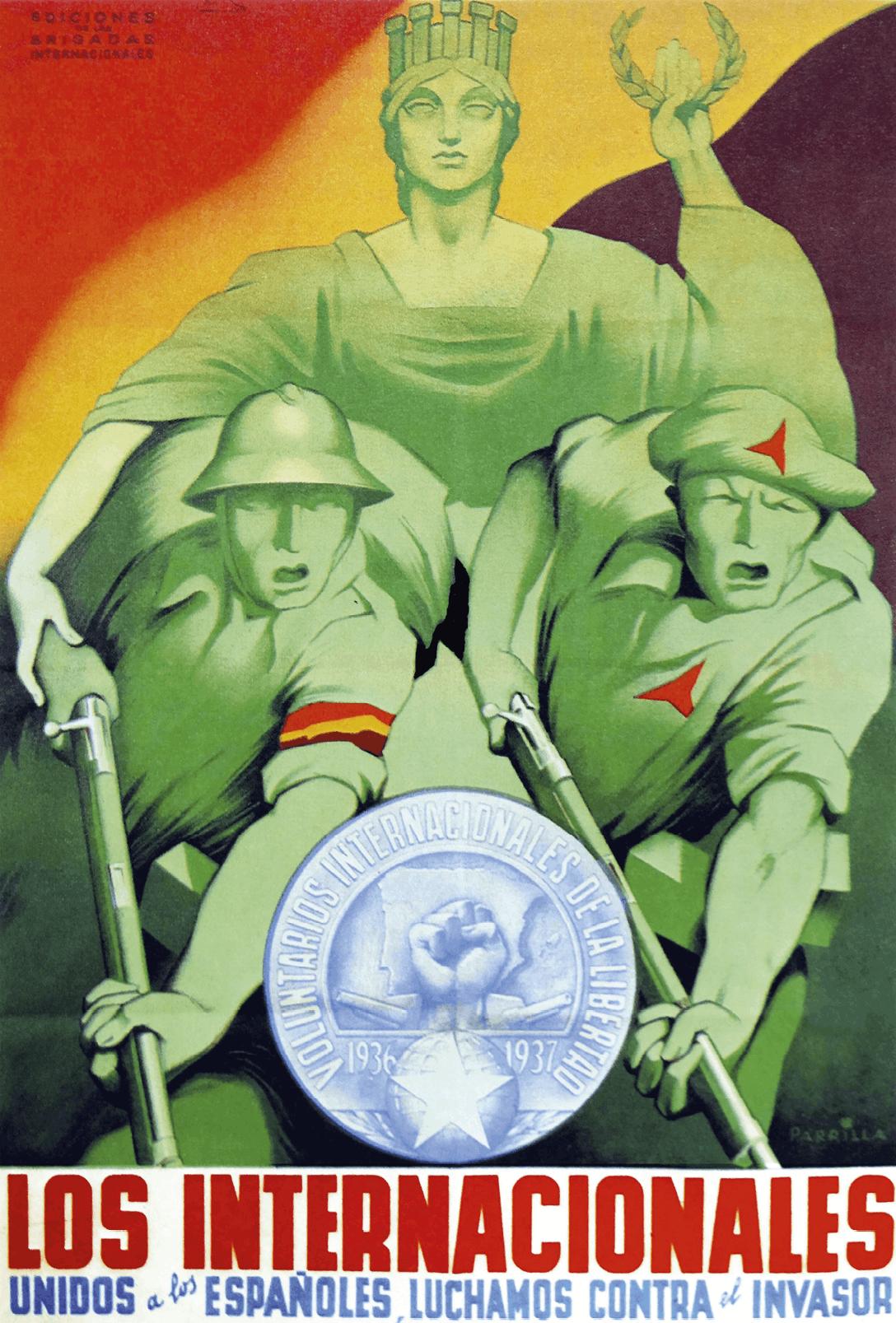 Cartel Las Brigadas Internacionales, unidas con el español, contra el invasor