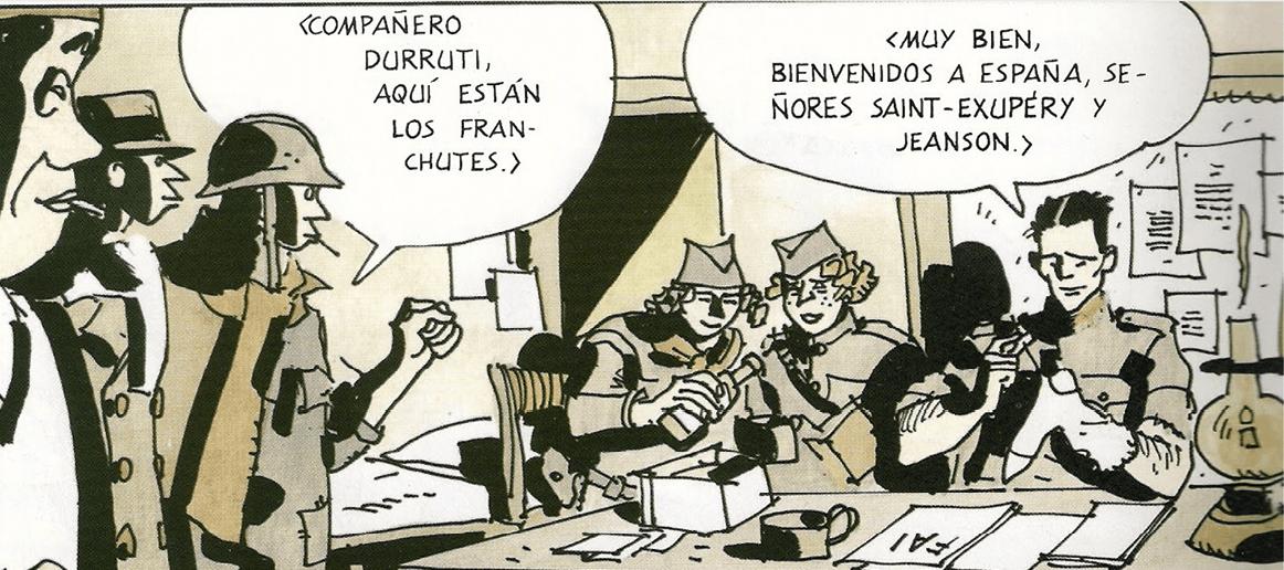 Hugo Pratt, Saint-Exupéry, El último vuelo, 1955