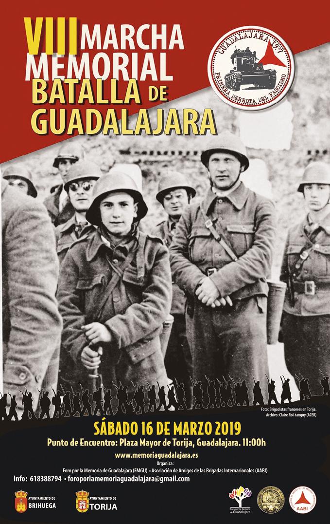 Cartel con motivo de la conmemoración de la Batalla de Guadalajara, 2019.