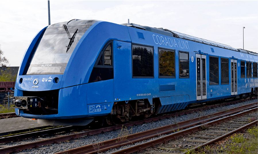 photo d'un train à dihydrogène