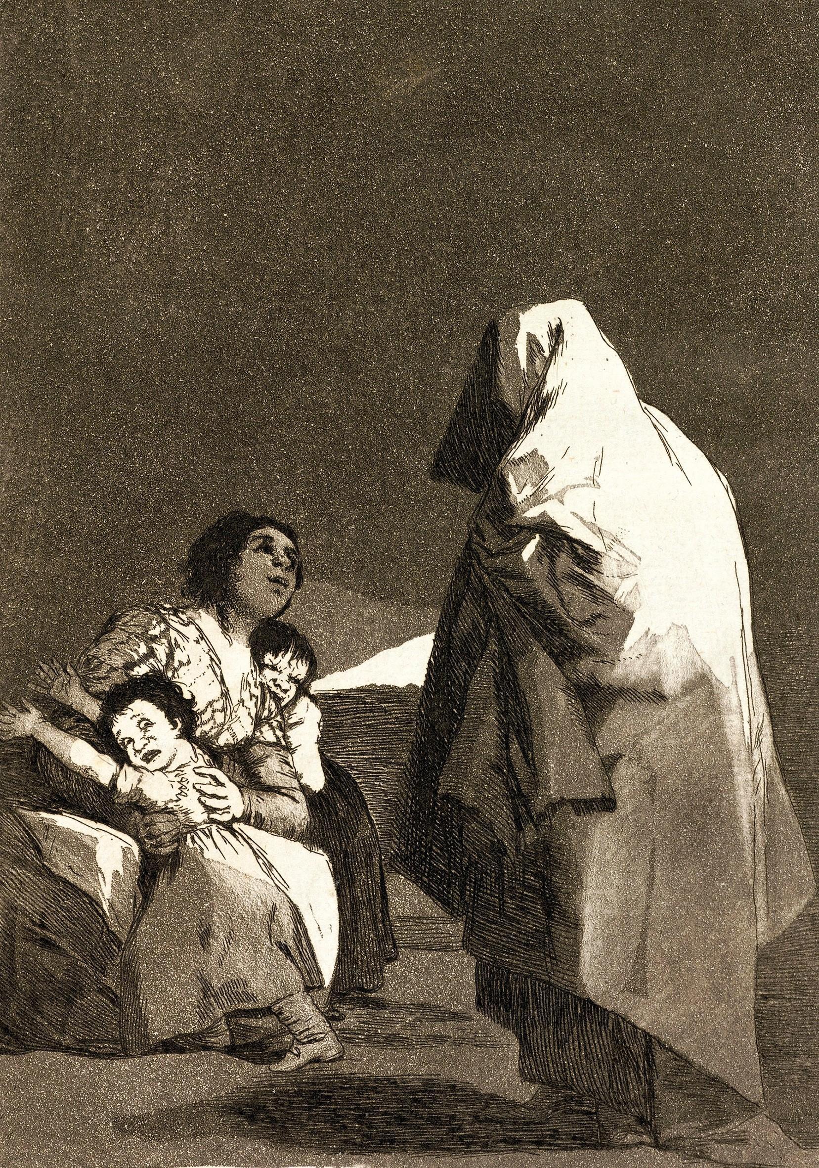 Francisco de Goya y Lucientes, Que viene el coco, 1797