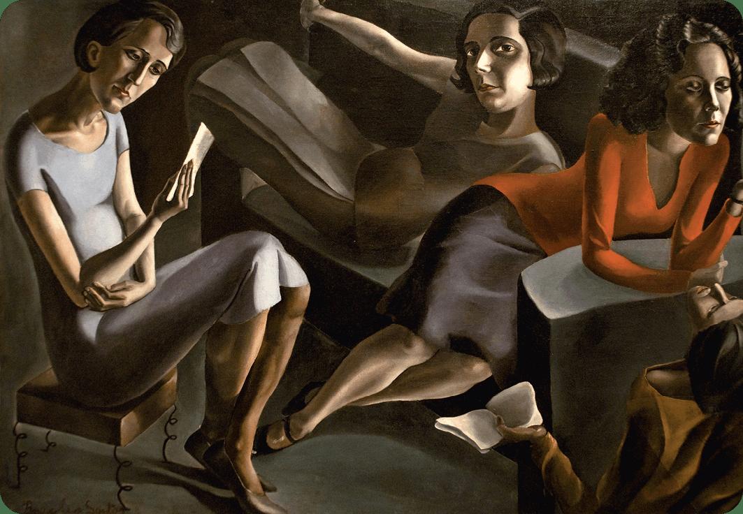 Ángeles Santos, Tertulia (The Gathering), 1929