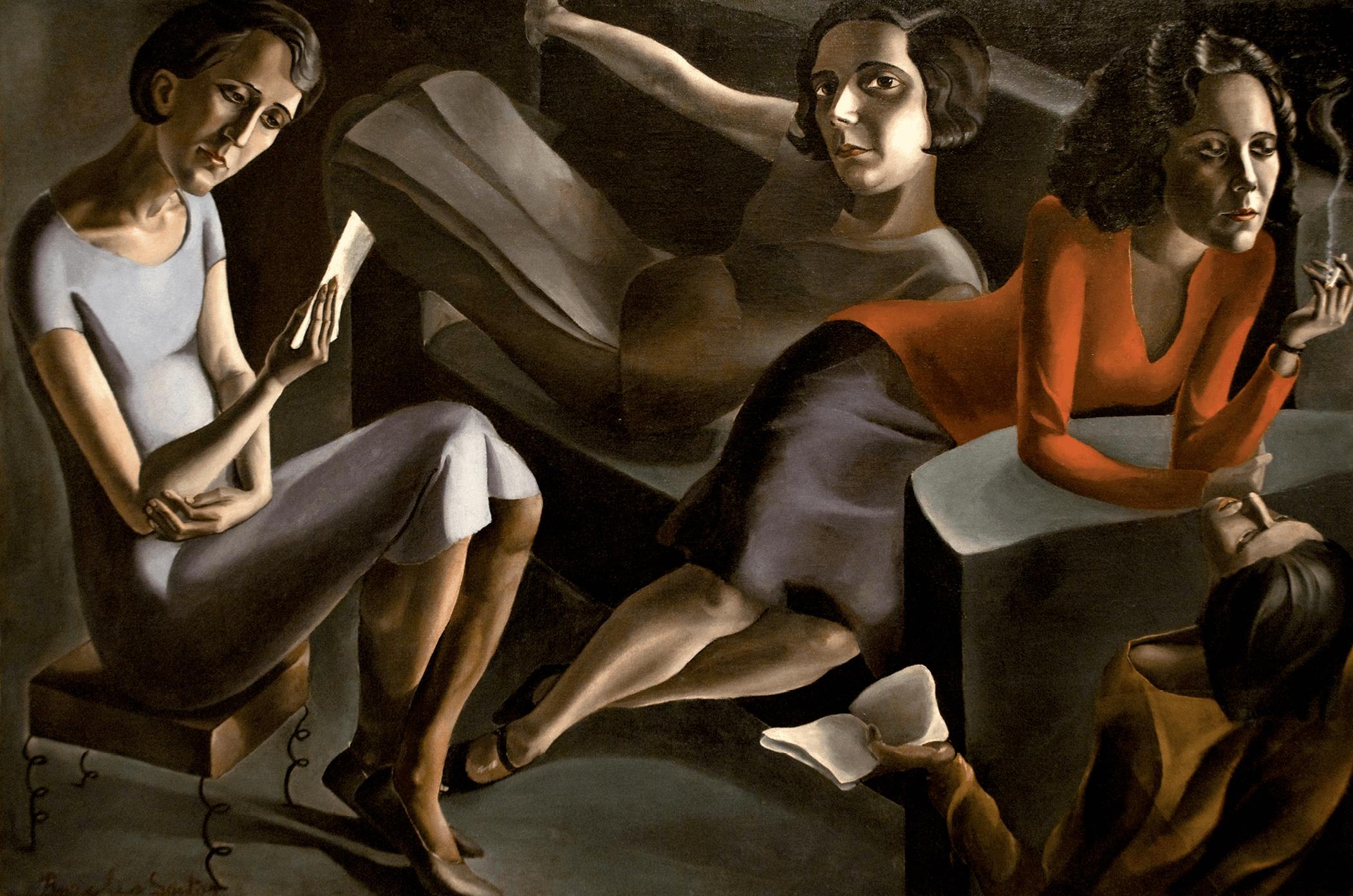 Ángeles Santos, Tertulia, 1929
