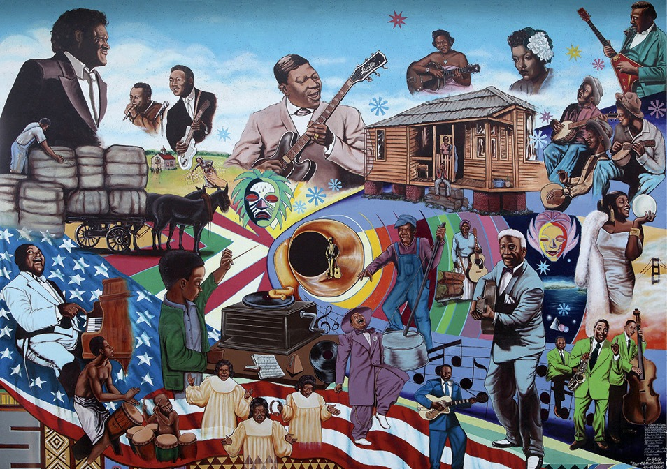 Mural celebrating American black music, San Francisco, United States, 2011.