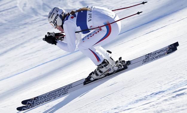 Photograhie d'un skieur alpin