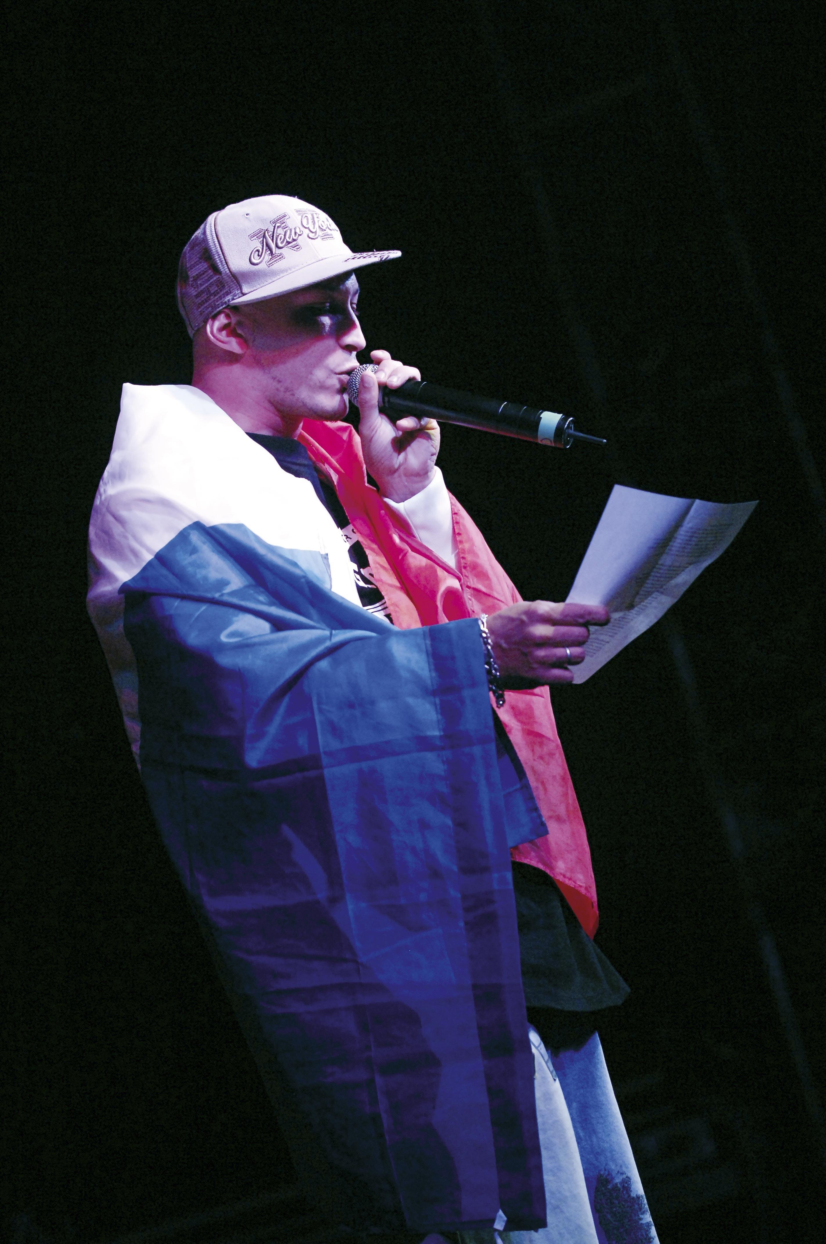 Axiom chantant sa « Lettre au Président »