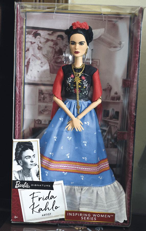 Muñeca Barbie Frida Kahlo, Mattel, 2018. La justicia mexicana prohibió al grupo Mattel comercializar la muñeca en México