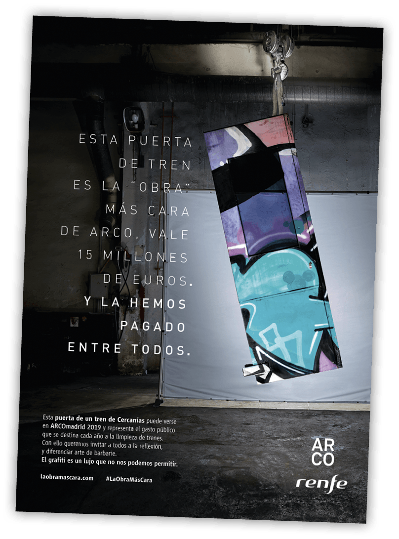 Campaña de la Renfe, Madrid, 2019