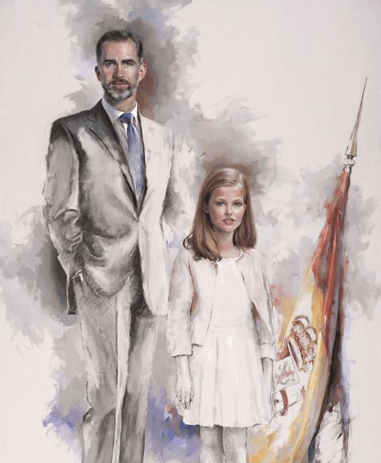 Retrato de Felipe VI y la Infanta Leonor