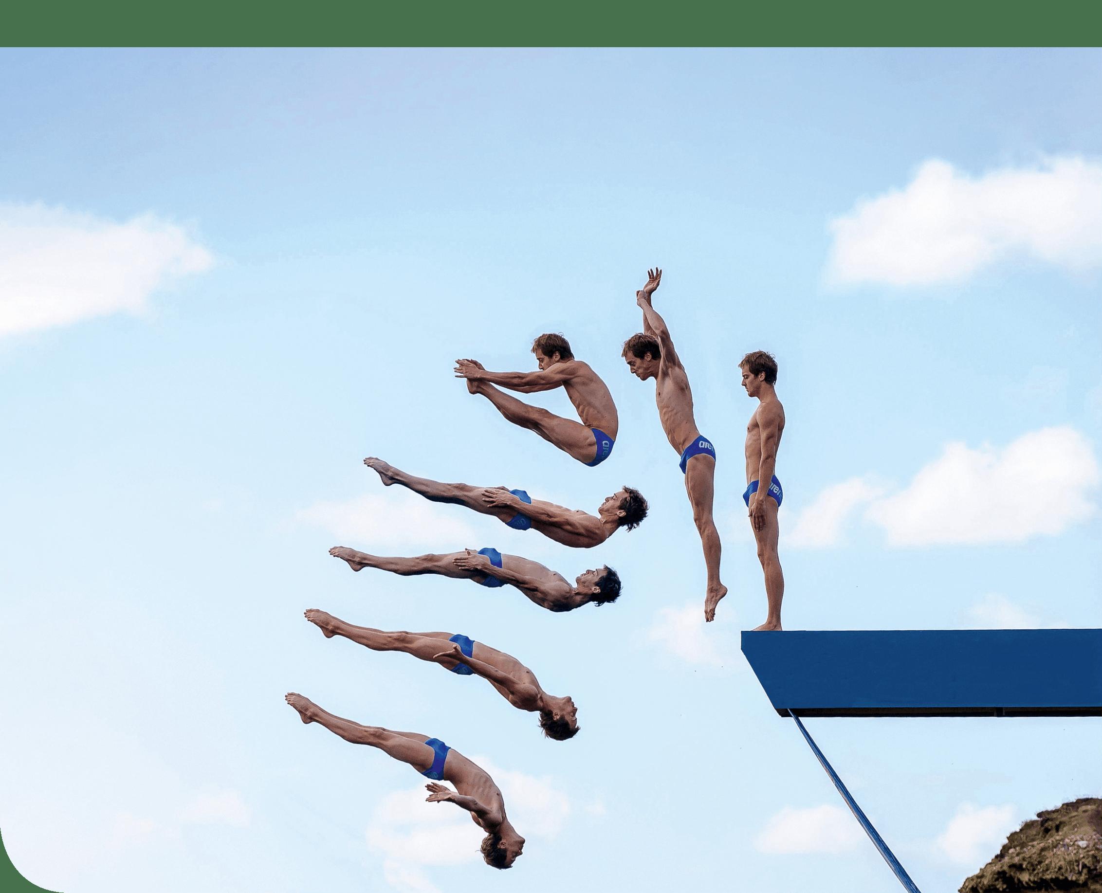 Lorsqu'un champion réalise un saut durant lequel le poids est la seule force extérieure qui s'exerce sur lui.