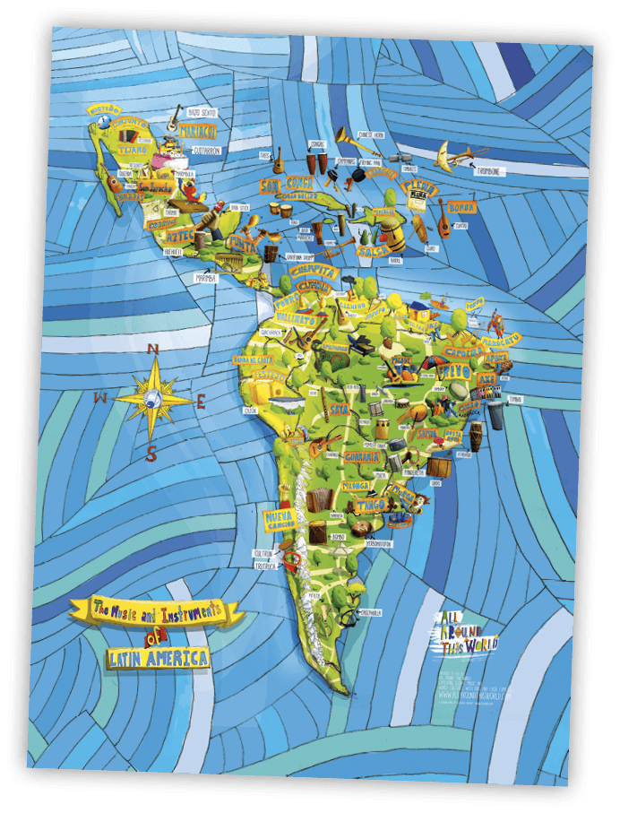Mapa de estilos de música latinoamericanos, All Around This World, 2015