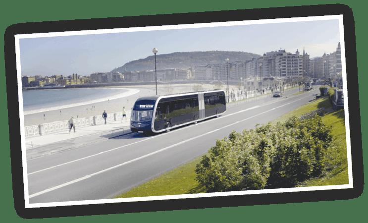 Campaña de Irizar e-mobility, playa de la Concha, San Sebastián, 2019